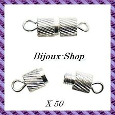 50 Fermoirs à vis métal pour collier ou bracelet