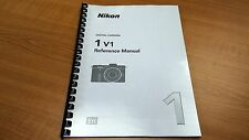 NIKON 1 V1 CAMERA PRINTED INSTRUCTION MANUAL USER GUIDE 232 PAGES A5