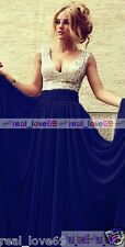 Long Chiffon V-neck Evening Formal Party Ball Gown Prom Bridesmaid Dress Wedding