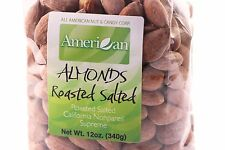 12oz Gourmet Style Bag of Californian Supreme Roasted Salted Almonds [3/4 lb.]