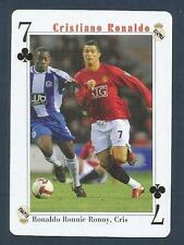 PLAYING CARD-FAR EAST ISSUE-CRISTIANO RONALDO-MANCHESTER UNITED-REF #7C
