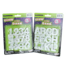 52 Piece Educational Glow In The Dark Magnetic Numbers Letters and Symbols