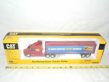 Caterpillar Rental Store Kenworth Semi With Van Trailer  By Norscot 1/50th Scale