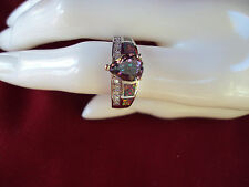 Genuine  Yellow Green Opal White Sapphire Mystic Topaz .925 Sterling   DAD-906