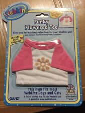 Webkinz Clothing Funky Flowered Tee With Online Code From Ganz Plush