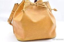 Authentic Louis Vuitton Epi Petit Noe Yellow Shoulder Bag LV 28219