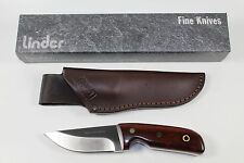 VERY STURDY GERMAN LINDER HUNTING KNIFE WITH COCOBOLO HANDLE & LEATHER SHEATH !!