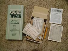 Old Vintage 1984 Golf Trivia Card Game Cal-Games Knowledge PGA LPGA Rules Record