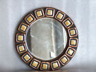 NICE WALL HANGING MIRROR, PORCELAIN OR POTTERY DECORATION, EUROPE
