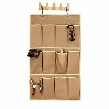 Eco friendly New 12 Apricot Pockets Shoe Organizer Hanging Storage bag Apricot