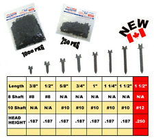 "KOLD KUTTER TRACK / TIRE TRACTION STUDS SCREWS 3/8"" #8 1000 PACK ATV MX"