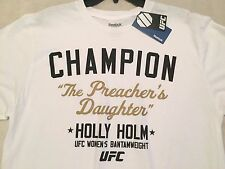 Reebok UFC HOLLY HOLM The Preacher's Daughter T Shirt Size L Large     NWT $30