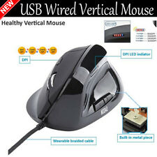 USB Wired Vertical Mouse 2400 DPI Optical LED Mouse Mice Indicator Xmas