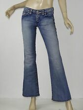 BIG STAR Light Blue Wash Embroidered Pocket Lowrise Bootcut CASEY Jeans 27