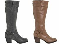 WOMENS ROCKET DOG SEBASTIAN LEATHER LOOK CLASSIC KNEE HIGH BOOTS SIZE 3 - 8 NEW