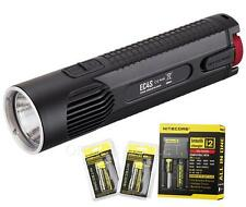 NiteCore EC4S 2150 Lumens LED Flashlight w/ 2x18650 Batteries & i2 Charger