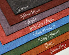 """WOW BRIGHT HEATHERED HUES Collection Merino Wool Blend Felt 8 - 12"""" X 18"""" Sheets"""