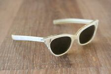 Vintage MOP Mother of Pearl & Clear Cat Eye Sunglasses Frames France 44-21