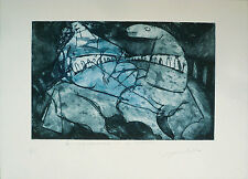 Del Re Marco (Roma 1950) -Acquaforte, acquatinta su zinco (1984)- Ed.Grafica Uno