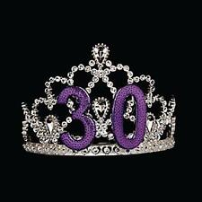 30th Birthday Tiara features purple numbers to honor the 30th birthday girl.