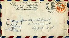 1940 Commercial Air Mail by NATS Clipper Flight Port Moresby- Buffalo, NY FAM-14