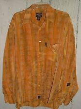 "Men's VARCITY All American By ""NO JOKE"" Button Front SHIRT Sz L Yellow gold Rare"