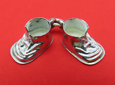 Vintage Sterling Silver Bracelet Charm Baby Shoes Pair 1967 Pendant 678g