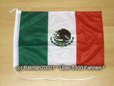 Fahnen Flagge Mexico Bootsfahne Tischwimpel - 30 x 40 cm