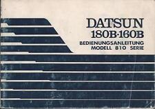 DATSUN   180 B   160 B  Betriebsanleitung 1977 Bordbuch  810 Serie   Handbuch BA
