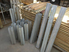 Galvanised Steel Channels for 50 mm Sleepers 45 deg Pieces only Clearance