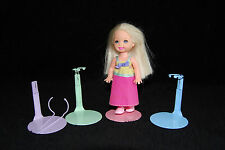 "12- KAISER ""MINI"" DOLL STANDS - RAINBOW 3.5 to 5""  #1099 Kelly, McDonald's Dolls"