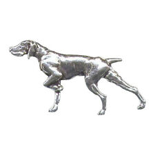 POINTER cane in piedi Peltro Tiro Pin Badge