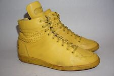 Vintage Men's Travel Fox classic hi top leather casual shoes yellow  US 9.5 M