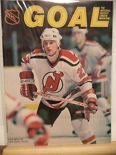 1985 NHL Goal Magazine - kirk  muller new jersey devils on Cover NM