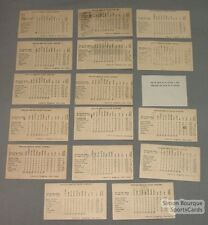 1947 Lot of 16 Can-Ame Baseball Standings Cards