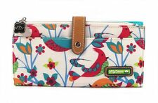 NWT Lily Bloom Large Travel Wallet Clutch Tweety Twig bird fit iPhone SHIP INTL