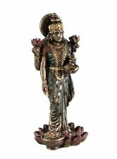 "SMALL LAKSHMI STATUE 3"" Standing Hindu Wealth Goddess NEW Resin Laxmi (3301)"
