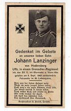 wk2 ww2 Sterbebild Death card +1943 Petrovsky; Hodersberg, Dorfen,