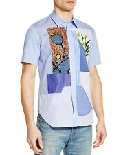 NWT Junya Watanabe MAN Comme des Garcons Patchwork Short Sleeve Shirt - Medium