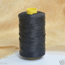 Black 100m/109yards Flat Leather Sewing Waxed Thread For AWL Shoes Bags Craft US