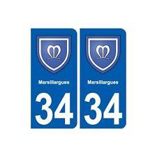 34 Marsillargues blason ville autocollant plaque stickers droits