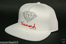 Diamond Supply Co. Baseball Cap OG Logo Snapback White 100% Cotton Diamond