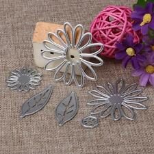 6 Pcs Flowers Cutting Dies Stencils Scrapbooking Decorative Template DIY Craft