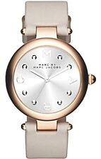 MARC by MARC JACOBS - Ladies Dotty Rose Gold Light Gray Leather Watch - MJ1464
