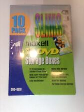 Maxell DVD CD Slim Storage Cases Boxes 10 Pack Slims  Case Box factory sealed