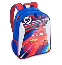Disney Store Deluxe Cars Lightning McQueen Lenticular Backpack Boys School Bag