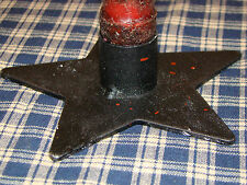 Rustic Iron Star Taper Candle Holder Primitive Country Home Decor