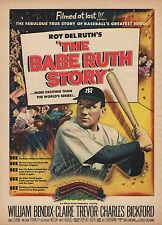 Vintage 1948 Movie, Cigarette, Popsicle Print Ads WILLIAM BENDIX Babe Ruth Story
