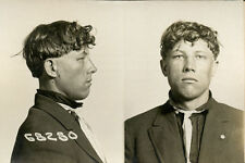1916, ORIGINAL crime mugshot / card, KROLL, poland, deadly weapon, CHICAGO PD