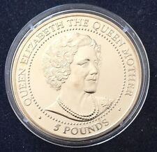 5 Pound 1999 Bailiwick of  Guernsey Elizabeth II The Queen Mother KM#93
